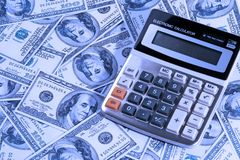 Calculator Over Money Royalty Free Stock Photo