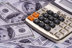 Calculator Over Money Stock Image