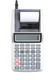Calculator: Overhead View of Electric Calculator Royalty Free Stock Images