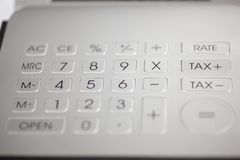 Calculator pad with numbers. Metal calculator pad with numbers stock photos
