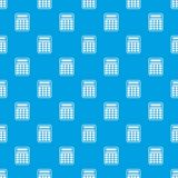 Calculator pattern seamless blue Royalty Free Stock Images