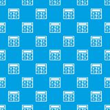 Calculator pattern vector seamless blue. Repeat for any use Stock Image