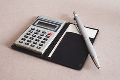 Calculator An Pen Royalty Free Stock Image