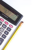 Calculator and pencil Royalty Free Stock Photo