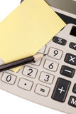 Calculator,pencil and blank notepaper Royalty Free Stock Image