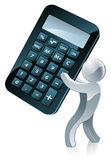 Calculator person Stock Image