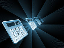 Calculator Perspective Royalty Free Stock Photos