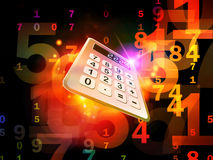 Calculator Perspective Royalty Free Stock Images