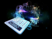 Calculator Perspective Stock Images
