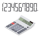 Calculator in perspective. Flat isometric. Royalty Free Stock Photography