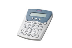 Calculator. Photo of calculator isolated on white Royalty Free Stock Photography