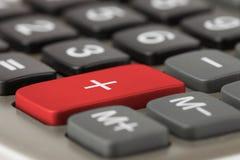 Calculator plus knoop Stock Afbeelding