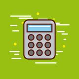 Calculator poster image Royalty Free Stock Photos