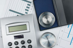 Calculator and print Royalty Free Stock Images