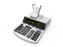 Calculator with Printed Receipt Stock Photography