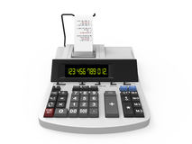 Calculator with Printed Receipt stock illustration