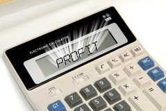 Calculator profit Royalty Free Stock Images