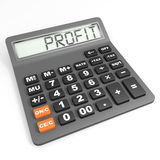 Calculator with profit on display. Stock Photo
