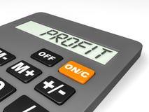 Calculator with PROFIT on display. Stock Photos