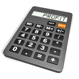 Calculator with PROFIT on display. Royalty Free Stock Photos