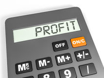 Calculator with PROFIT on display. Stock Photos