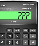 Calculator with question mark Royalty Free Stock Image