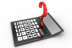 Calculator with question mark Stock Photography