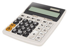 Calculator realistic. Calculator realistic grey for the office Stock Images