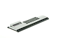 Calculator with ruler Stock Images