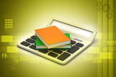 Calculator with sales tag Stock Image