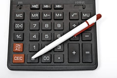 Calculator of the schoolboy Royalty Free Stock Images