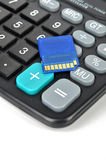 Calculator and SD card Stock Images