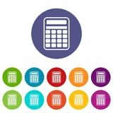 Calculator set icons Stock Images