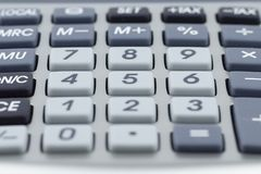 Calculator. Several keys. Macro detail stock photos