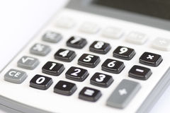 Calculator - shallow field of depth Royalty Free Stock Photo