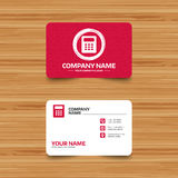 Calculator sign icon. Bookkeeping symbol. Royalty Free Stock Images