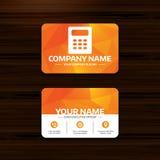 Calculator sign icon. Bookkeeping symbol. Stock Photos