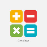 Calculator Sign Symbol Icon Vector Illustration Royalty Free Stock Image
