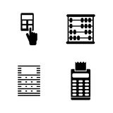 Calculator. Simple Related Vector Icons. Set for Video, Mobile Apps, Web Sites, Print Projects and Your Design. Black Flat Illustration on White Background Royalty Free Stock Photo