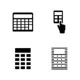 Calculator. Simple Related Vector Icons Royalty Free Stock Photos