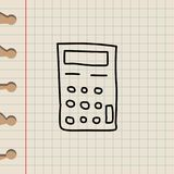 Calculator sketch icon. Element of education icon for mobile concept and web apps. Outline calculator sketch icon can be used for. Web and mobile on school Stock Photo