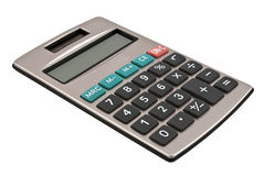 Calculator with a solar battery Stock Image