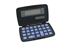Calculator with a solar battery Stock Photo