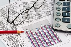 Calculator and statistic Royalty Free Stock Photography