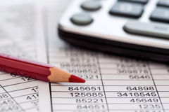Calculator and statistk Stock Images