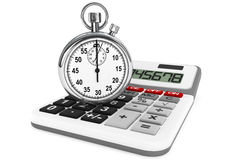 Calculator and StopWatch Stock Image