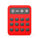 Calculator symbol. Simple shading 3d calculator finance Royalty Free Stock Photos