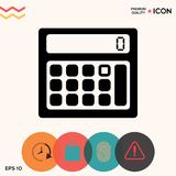 Calculator symbol icon. Element for your design Royalty Free Stock Image
