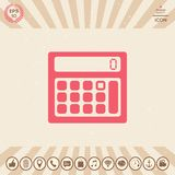 Calculator symbol icon. Element for your design Royalty Free Stock Photo