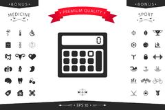 Calculator symbol icon. Element for your design Royalty Free Stock Images